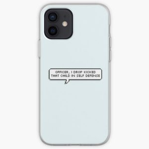 Technoblade Quote: Officer, I Drop Kicked That Child In Self Defense iPhone Soft Case RB0206 product Offical Technoblade Merch