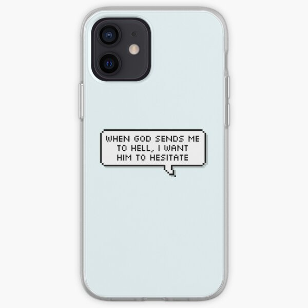Technoblade Quote: When God Sends Me to Hell, I Want Him to Hesitate iPhone Soft Case RB0206 product Offical Technoblade Merch