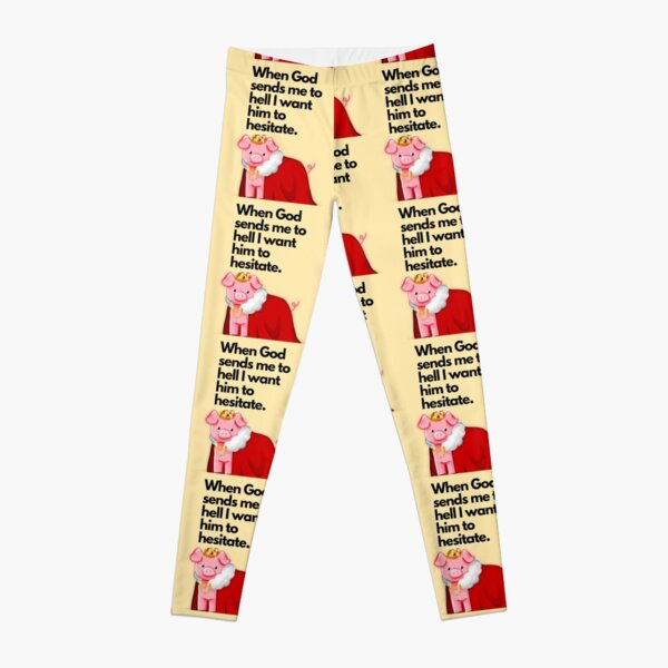 technoblade quote , when god sends me to hell I want him to hesitate Leggings RB0206 product Offical Technoblade Merch