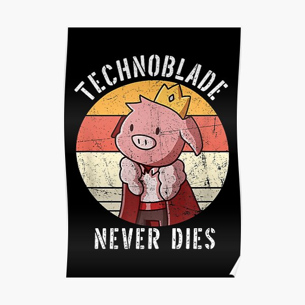 technoblade never dies Poster RB0206 product Offical Technoblade Merch