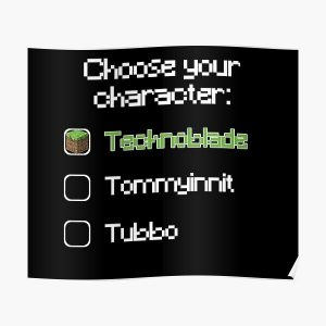 Choose your character - Technoblade Poster RB0206 product Offical Technoblade Merch