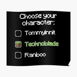 Choose your character - Technoblade (2) Poster RB0206 product Offical Technoblade Merch