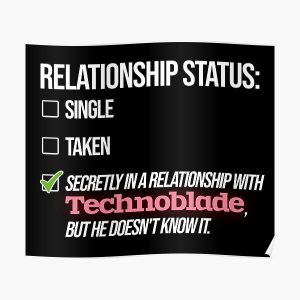 Relationship with Technoblade Poster RB0206 product Offical Technoblade Merch