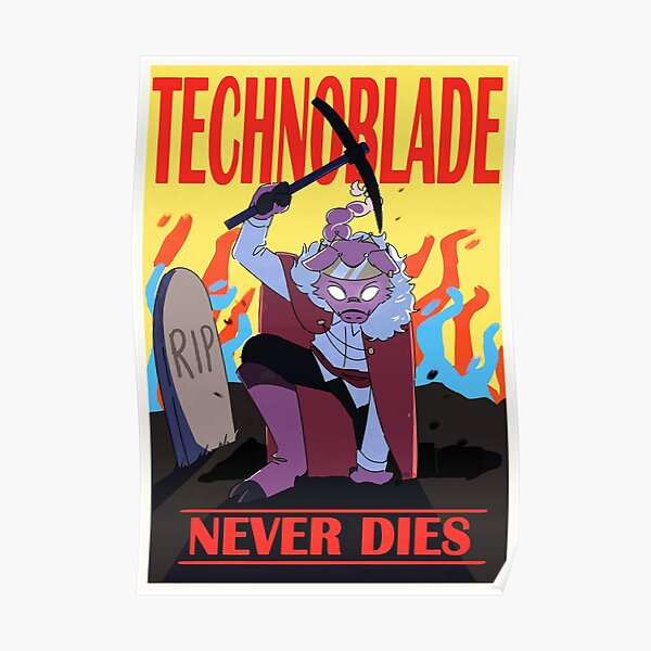 technoblade never dies games Poster RB0206 product Offical Technoblade Merch