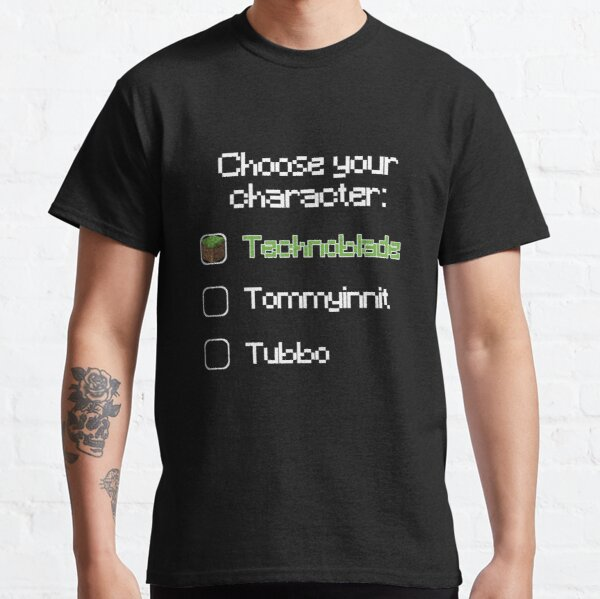 Choose your character - Technoblade Classic T-Shirt RB0206 product Offical Technoblade Merch