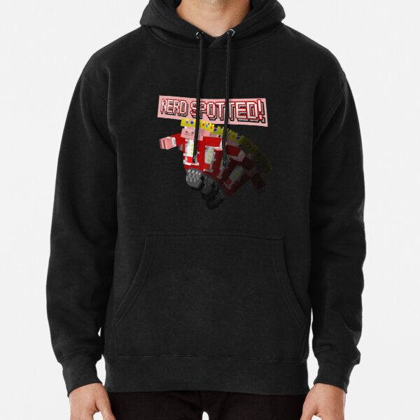 Technoblade NERD SPOTTED Pin Button Pullover Hoodie RB0206 product Offical Technoblade Merch