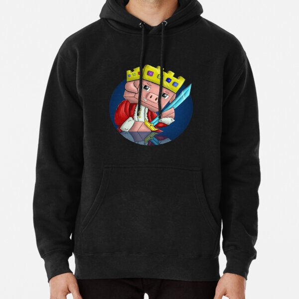 Technoblade Pig King Pullover Hoodie RB0206 product Offical Technoblade Merch