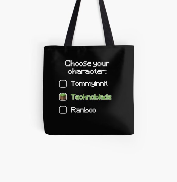 Choose your character - Technoblade (2) All Over Print Tote Bag RB0206 product Offical Technoblade Merch