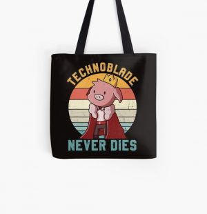 Retro Style Technoblade Merch Cosplay Boys Girls All Over Print Tote Bag RB0206 product Offical Technoblade Merch