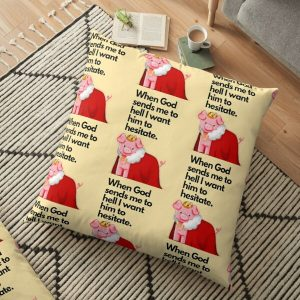 technoblade quote , when god sends me to hell I want him to hesitate Floor Pillow RB0206 product Offical Technoblade Merch