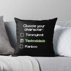 Choose your character - Technoblade (2) Throw Pillow RB0206 product Offical Technoblade Merch