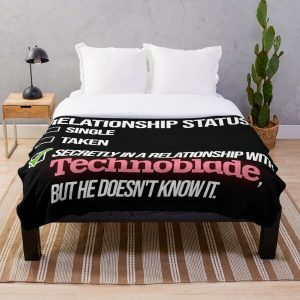 Relationship with Technoblade Throw Blanket RB0206 product Offical Technoblade Merch