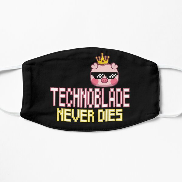 Technoblade Never Dies Flat Mask RB0206 product Offical Technoblade Merch