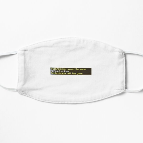 Technoblade left the game Flat Mask RB0206 product Offical Technoblade Merch