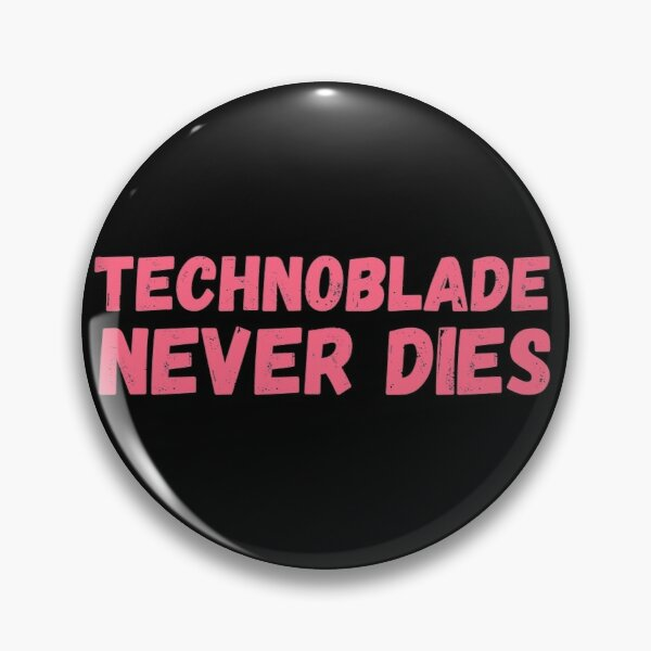 TECHNOBLADE NEVER DIES Pin RB0206 product Offical Technoblade Merch
