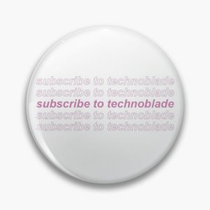 subscribe to technoblade Pin RB0206 product Offical Technoblade Merch