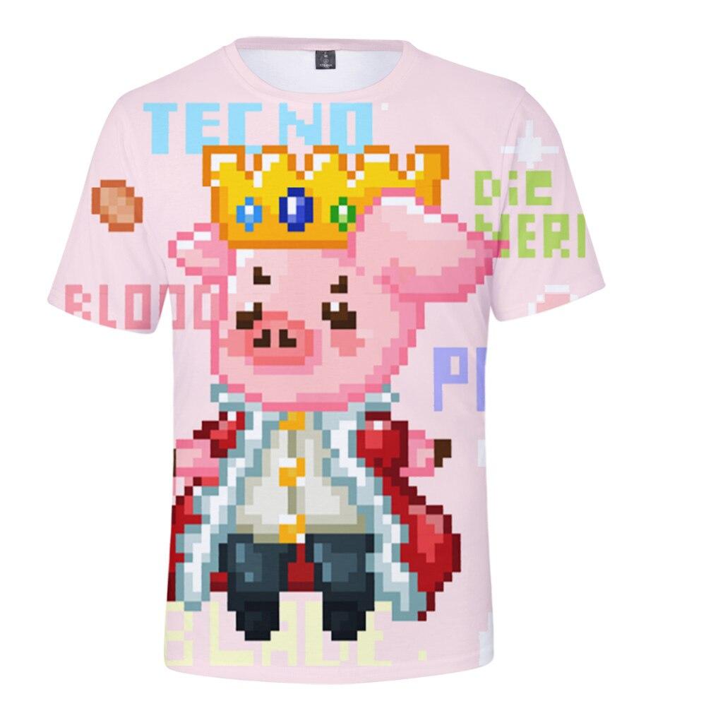 Technoblade 3D Print Spring Summer Preppy Style Men Women Street Clothes T shirt Youthful Kawaii HIP 3 - Technoblade Store