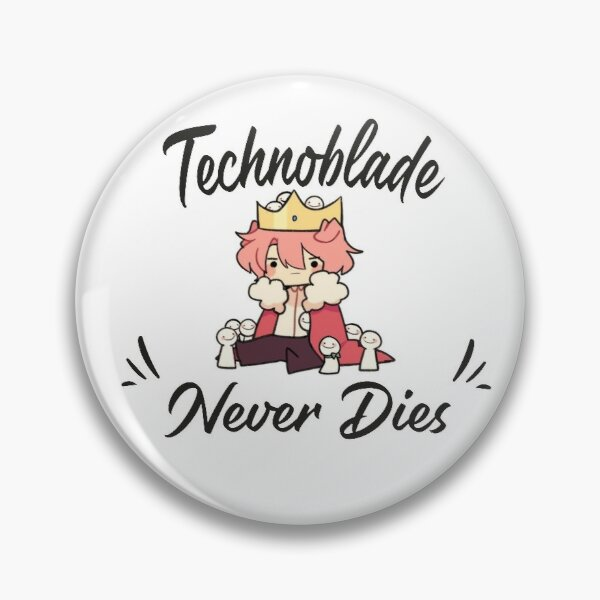 Technoblade Never Dies Customizable Soft Button Pin Gift Lapel Pin Metal Decor Creative Lover Jewelry Hat - Technoblade Store